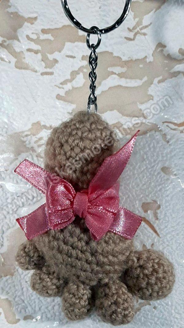 Nerta kreminės spavos pėdutė su rožiniu kaspinėliu - 01