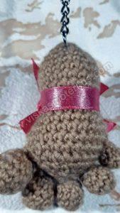 Nerta kreminės spavos pėdutė su rožiniu kaspinėliu - 06