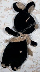 Nertas juodas zuikutis gniaužtukas - 02