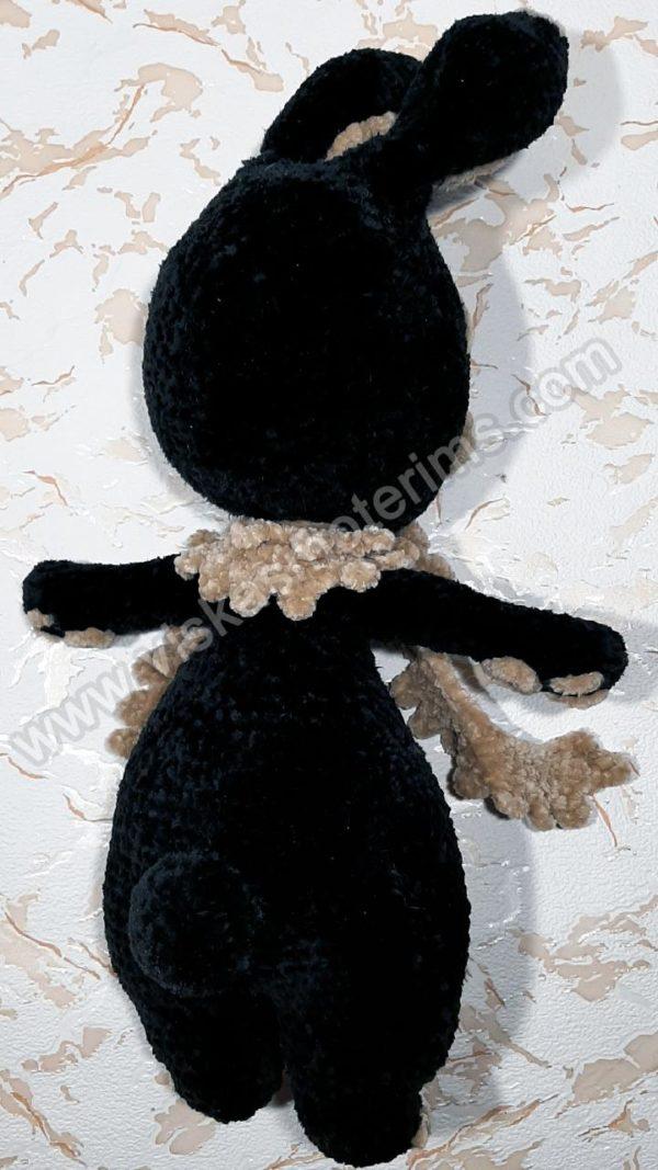 Nertas juodas zuikutis gniaužtukas - 04