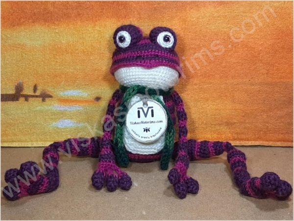 Nertas varliukas Flipas violetinės spalvos - 01