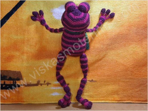 Nertas varliukas Flipas violetinės spalvos - 05