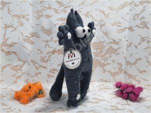 Nertas katinukas Saimonas pilkos spalvos - 02