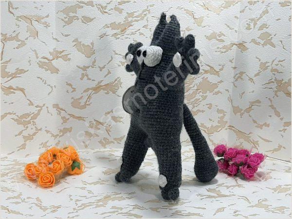 Nertas katinukas Saimonas pilkos spalvos - 03