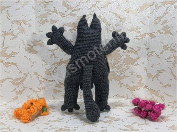 Nertas katinukas Saimonas pilkos spalvos - 04