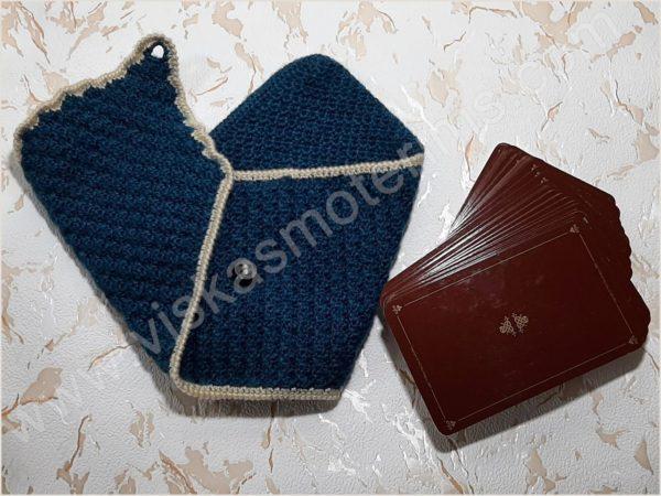 Nertas dėklas su paklotu 3-jų kortų (9x14cm) dėlionei - 03