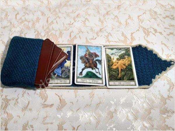 Nertas dėklas su paklotu 3-jų kortų (9x14cm) dėlionei - 07