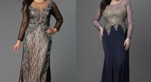 Вечерние платья, украшающие полных девушек